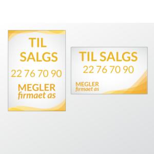 Til salg skilt i 0.3 mm miljøplast