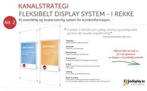 NAV Kanalstrategi - Flexikit Display System i rekke.