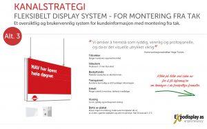 NAV Kanalstategi - System Flexikit Display med takfeste