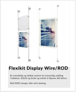Flexikit-Display-wire-Rod-opphengsystemer