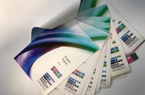 Vi printer på mange forskjellige materiell.