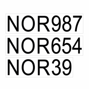 Seil nummer til RSX seil